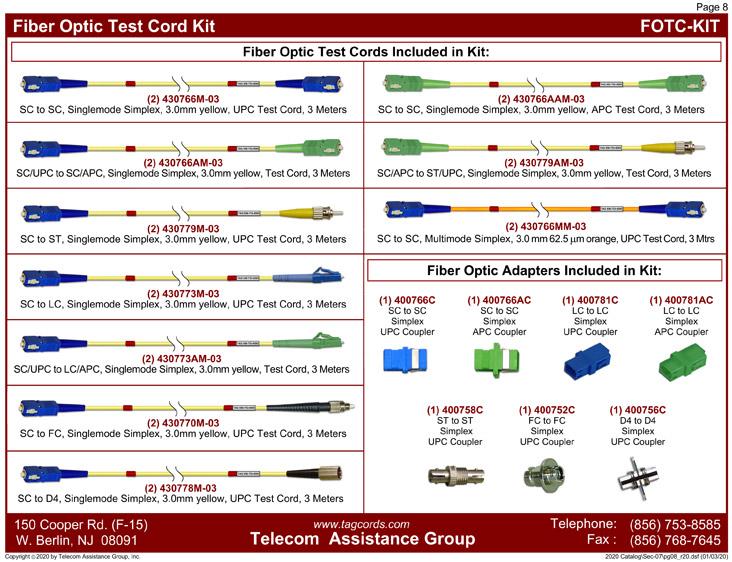 Fiber Optic Test Cord Kit